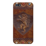 Medieval Leather Book Cover Case For iPhone 5