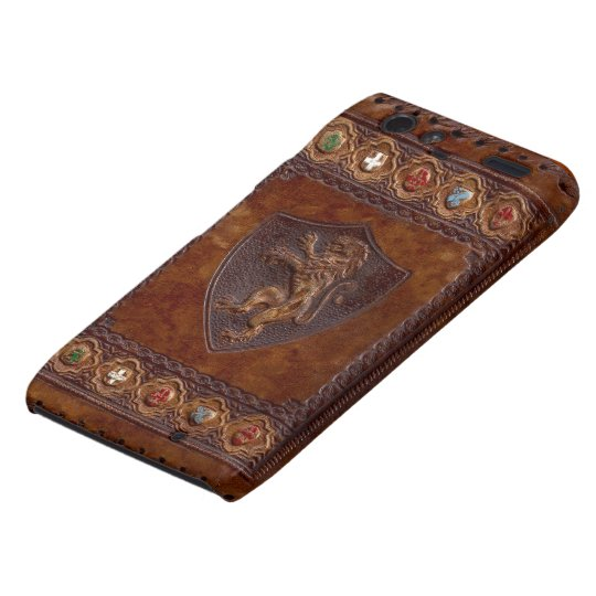 Medieval Leather Book Cover Droid RAZR Case