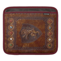 Medieval Leather Book Cover Lion Rampant
