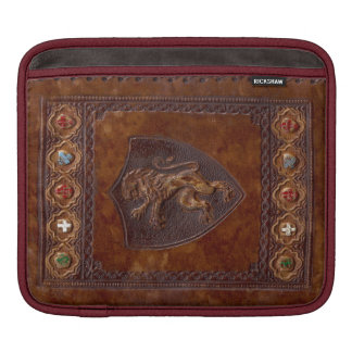 Medieval Leather Book Cover Lion Rampant Sleeve For iPads