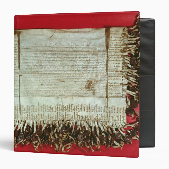 Medieval letter of protest from the Bohemian 3 Ring Binder
