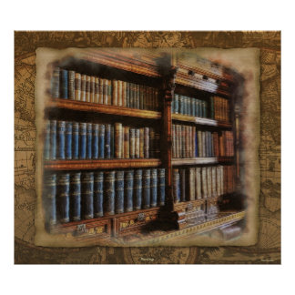 Medieval Library and Books of Antiquity Artwork Poster