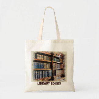 Medieval Library and Books of Antiquity Design Budget Tote Bag