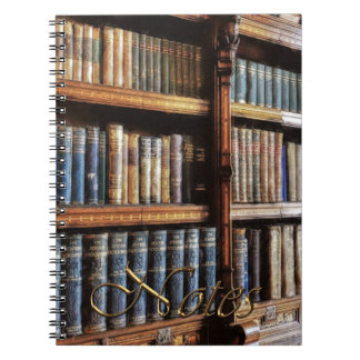 Medieval Library and Books of Antiquity Spiral Notebook