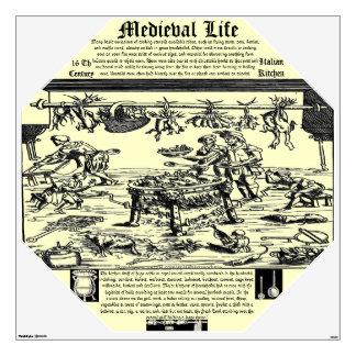 """Medieval Life~16 Th Century- ITALIAN KITCHEN"" Wall Sticker"