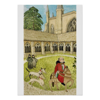 Medieval Life in England - Canterbury pilgrims Poster