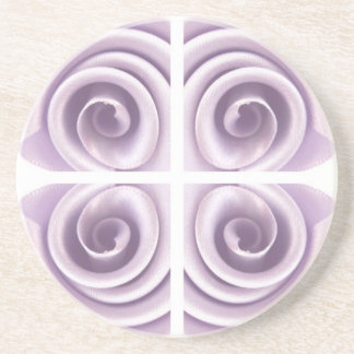 Medieval Lilac Rose Swirls Coaster