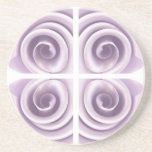 Medieval Lilac Rose Swirls Drink Coaster
