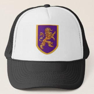 Medieval Lion on Purple Shield Trucker Hat