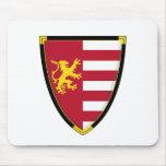 Medieval Lion Shield Mousepad