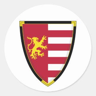 Medieval Lion Shield Sticker