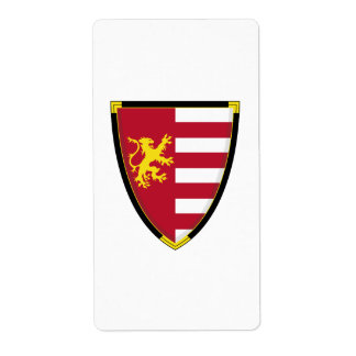 Medieval Lion Shield Sticker Label