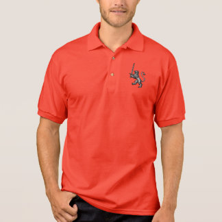 Medieval Lion with Sword Polo Shirt