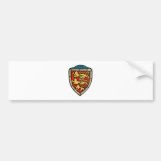 Medieval Lions Crest Bumper Sticker