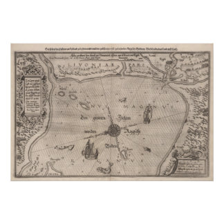 Medieval Livonia Map Poster