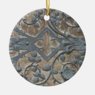 Medieval Lock Ceramic Ornament