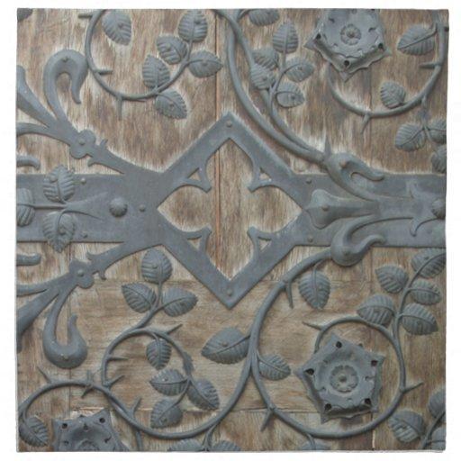 Medieval Lock Printed Napkin