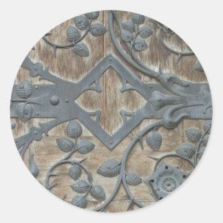 Medieval Lock Round Sticker