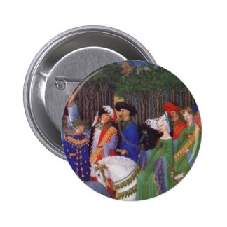 Medieval lords and ladies 2 inch round button