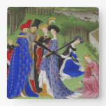 Medieval lords and ladies wall clock