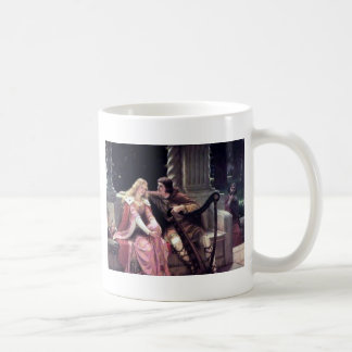 Medieval Love Couple Romantic Castle Painting Coffee Mug