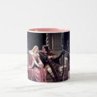 Medieval Love Couple Romantic Castle Painting Two-Tone Coffee Mug