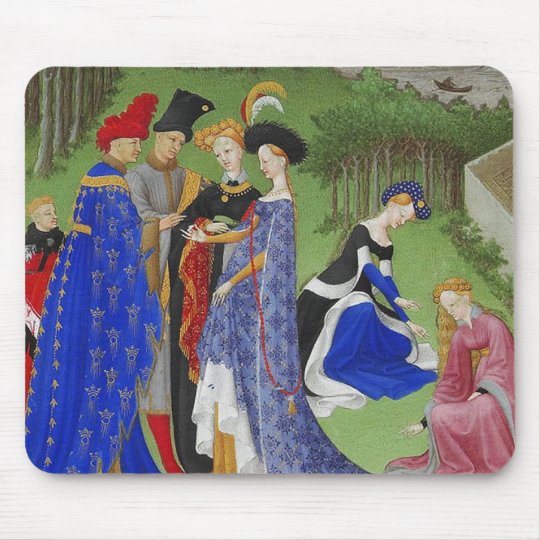 Medieval lovers mouse pad
