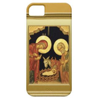 Medieval manger scene iPhone SE/5/5s case
