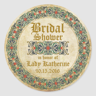Medieval Manuscript Goth Bridal Shower Label
