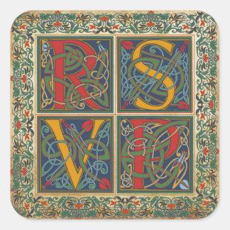Medieval Manuscript Goth RSVP Label