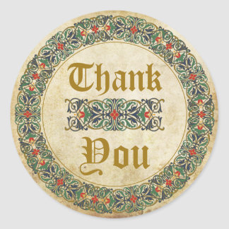 Medieval Manuscript Goth Thank You Label