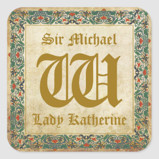 Medieval Manuscript Goth Wedding Label