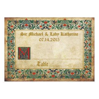 Medieval Manuscript Goth Wedding Place Cards