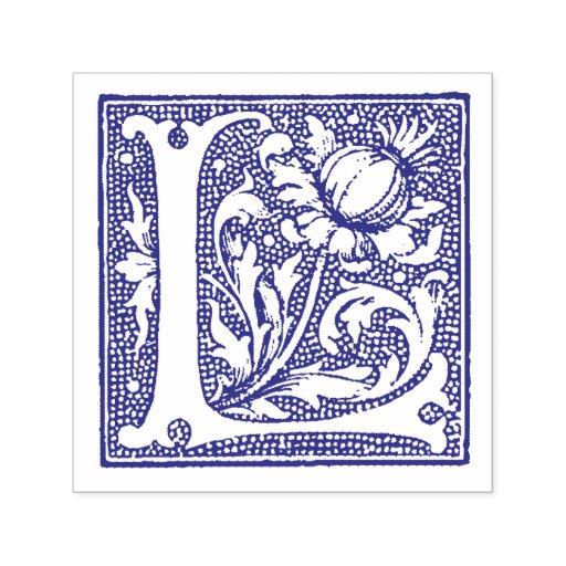 Medieval manuscript letter l monogram self inking stamp for Self inking letter stamps