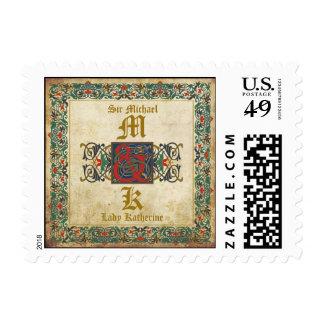 Medieval Manuscript Renaissance Wedding Stamp