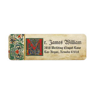 Medieval Manuscript Wedding Label