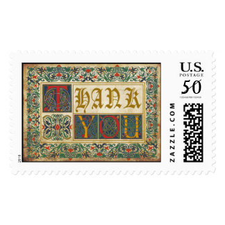 Medieval Manuscript Wedding Thank You Stamp