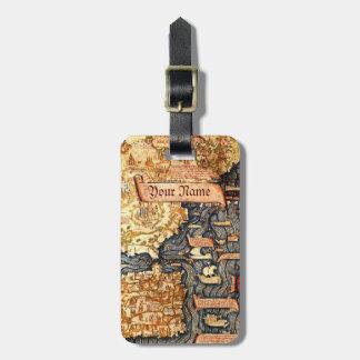 Medieval Map Custom Luggage Tag