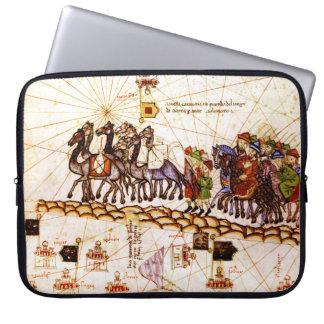 Medieval Map Electronics Bag Laptop Sleeves