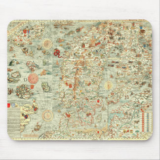 Medieval Map Mousepad