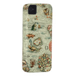 Medieval Mariners Map iPhone4 Case iPhone 4 Cover