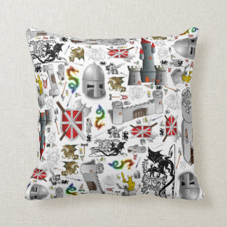 Medieval Mash-up Throw Pillow
