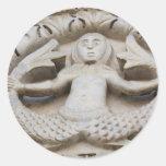 Medieval Mermaid Classic Round Sticker