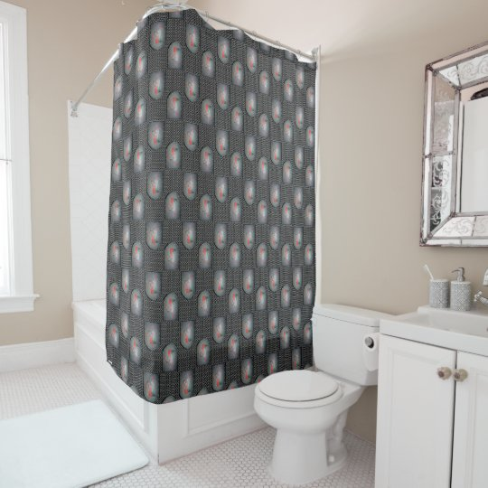 Medieval Metal Shield Dragon Shower Curtain