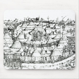 Medieval military encampment, from a book, pub. 18 mouse pad