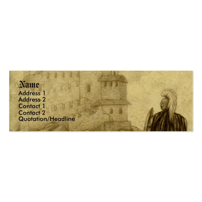 Medieval Mini Business Card