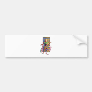 Medieval Minstrel and Lute Bumper Sticker
