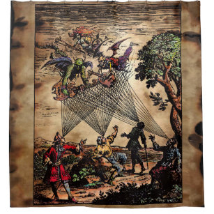 Medieval Minstrels Shower Curtain
