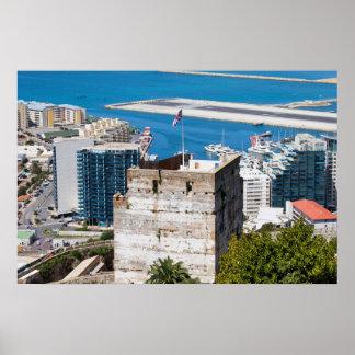 Medieval Moorish Tower of Homage in Gibraltar Poster