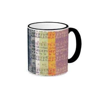 Medieval Multi-color Manuscripts Ringer Coffee Mug